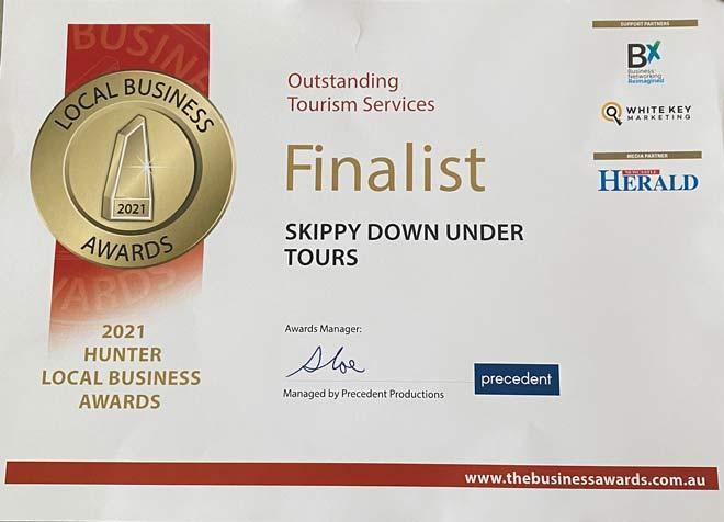 Skippy Down Under Outstanding Tourism Finalist