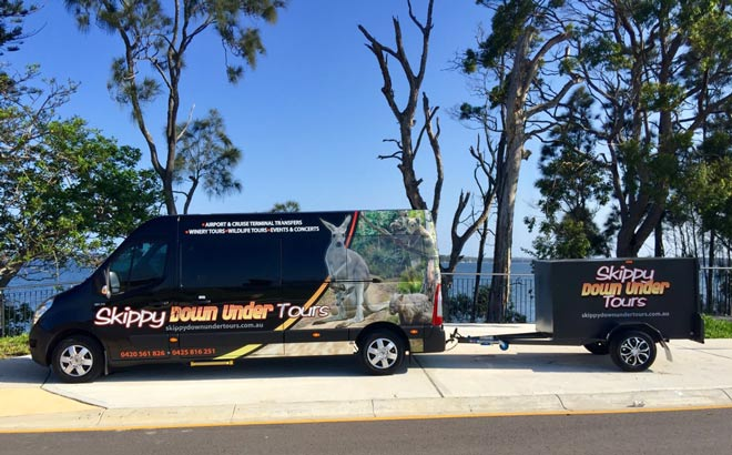 Our Central Coast Tour & Transport Bus with trailer
